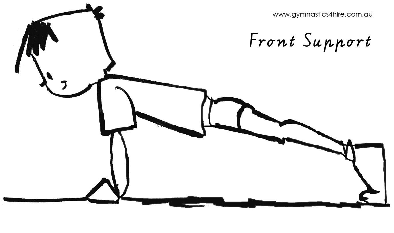 Gymnastics Coloring Pages Sketch Coloring Page