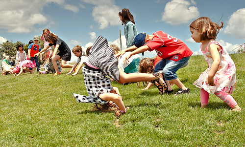 Picture of kids rolling